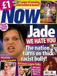 Now magazine: Jade front cover